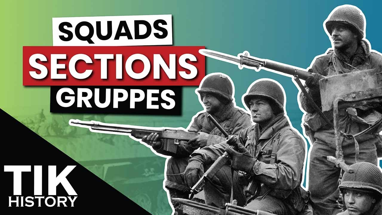 WW2 American, British, Soviet and German Rifle Squad FIREPOWER Comparison