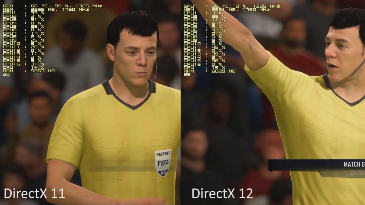 FIFA 18  DirectX 11 vs  DirectX 12  Frostbite DX12 still sucks