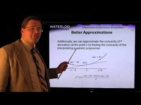 Differentiation and Richardson Extrapolation