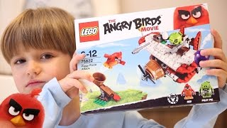 New Lego The Angry Birds Movie Set - Piggy Plane Attack 75822 Toys Review