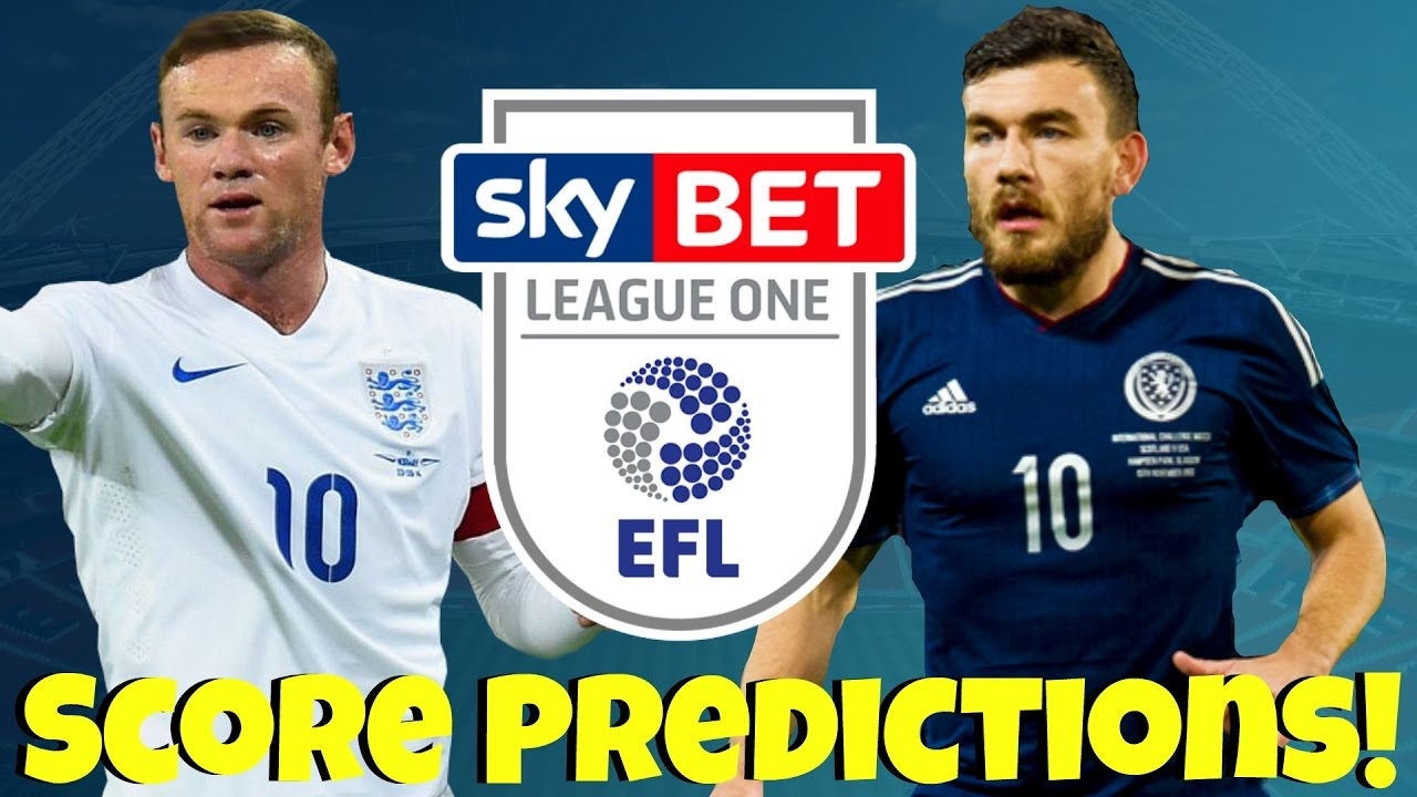 My International & League 1 Score Predictions! England vs Scotland - What  Will Happen In League One?