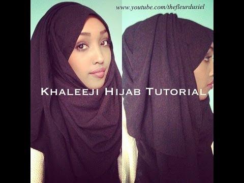 Khaleeji Hijab Tutorial - YouTube