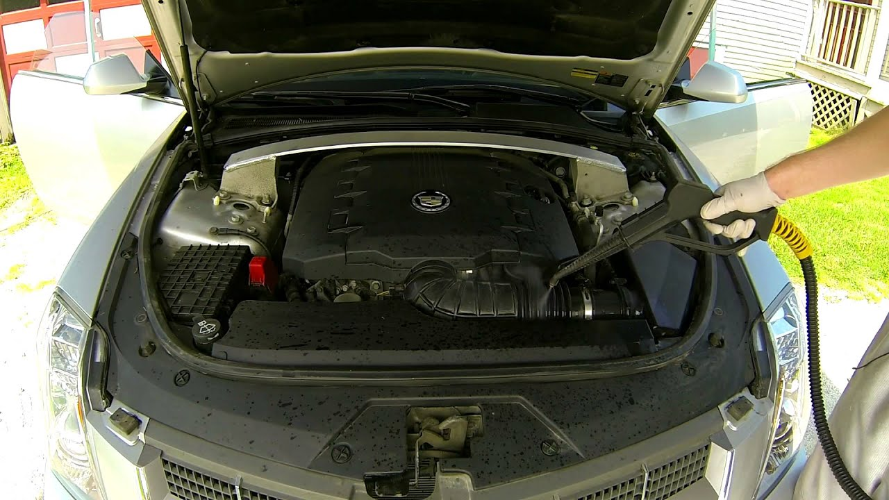 Car Detailing Cadillac Cts Engine Compartment Detail