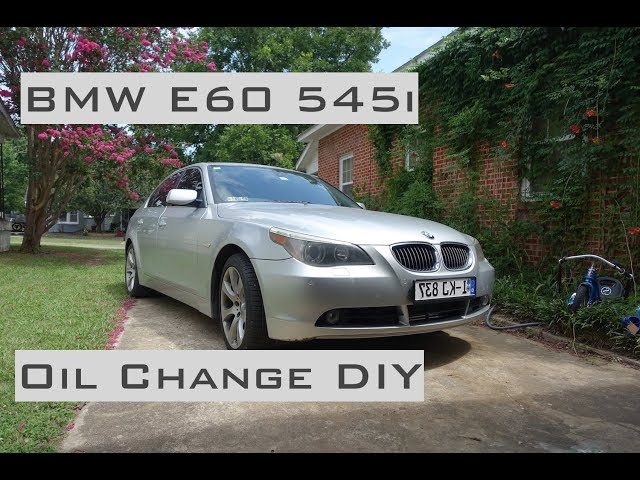 BMW 545i - Oil Change DIY - 2004-2005