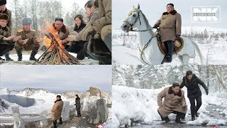 Kim Jong-un rides up to Mt. Paektu on white horse with his wife Ri Sol-ju