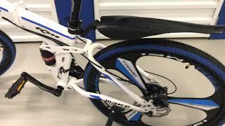 Велосипед на литых дисках складной Make белый (Мейк). Обзор