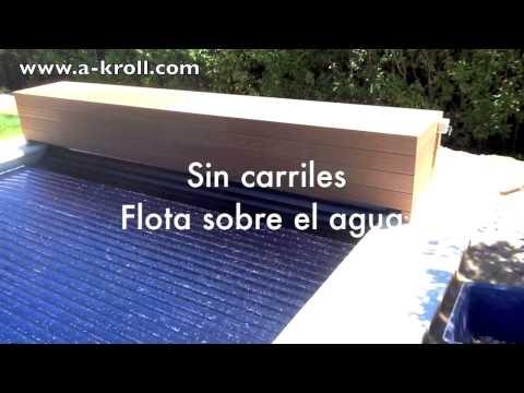 Cubierta solar y de seguridad para piscina instalada en Madrid España