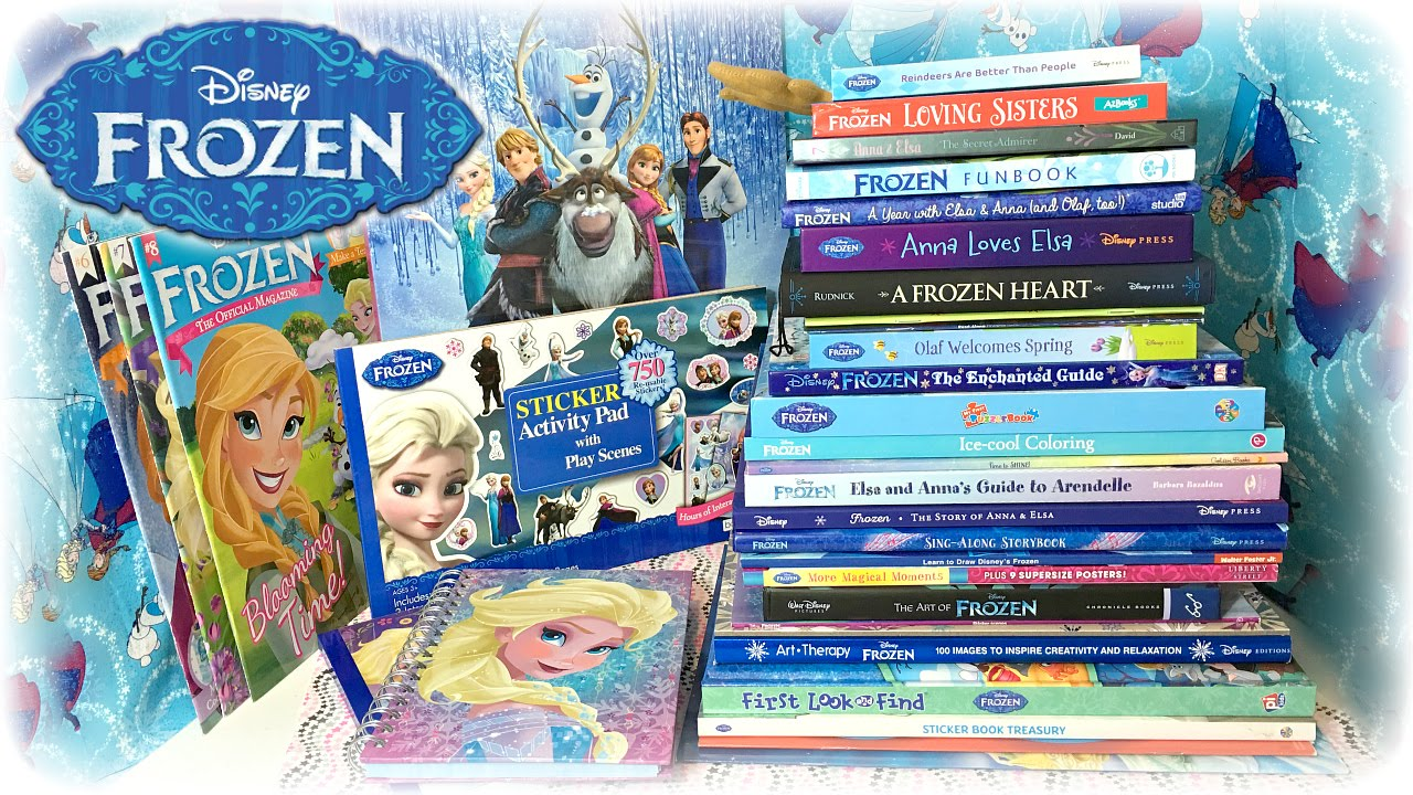 Disney Frozen Novels Coloring Books Stickers Amp Magazines