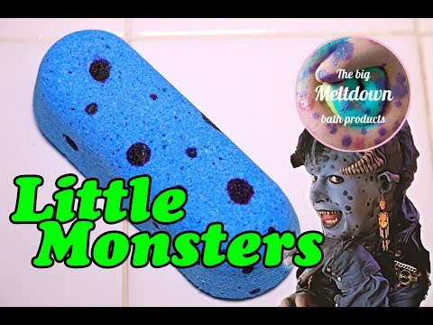 The Big Meltdown - LITTLE MONSTERS Bath Bomb - DEMO - Underwater View - Review