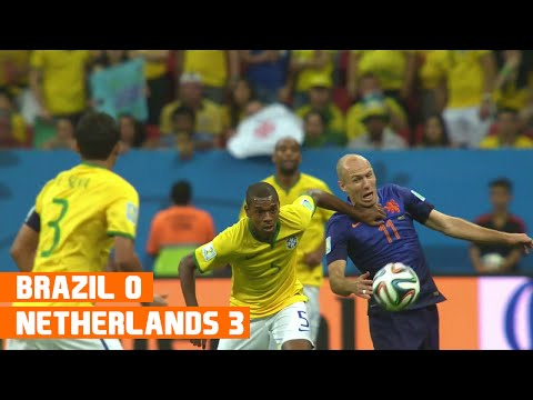 Brazil vs Netherlands (0-3) World Cup 2014 Highlights
