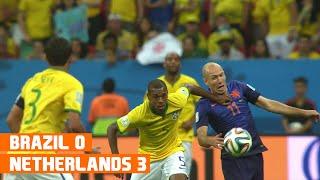 Brazil vs Netherlands (0-3) World Cup 2014 Highlights