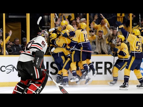 Forsberg scores two, Fiala pops OT winner as Predators take 3-0 lead over Blackhawks