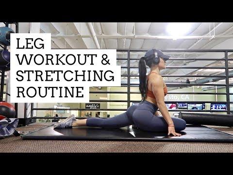 LEG WORKOUT & STRETCHING ROUTINE