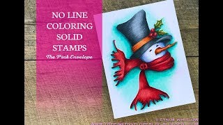 Solid Stamps with No Line Coloring - Penny Back Bundled Up