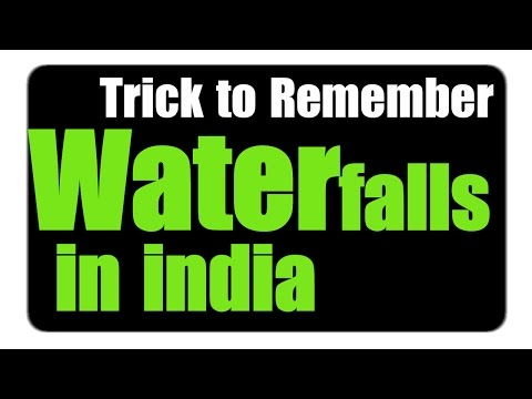 Most Famous Waterfalls in India | Trick to Remember | Part - 6