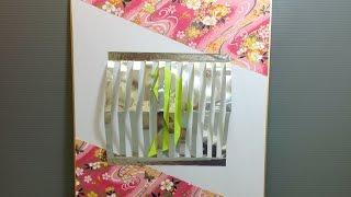 Origami Bird In A Cage Shikishi Display