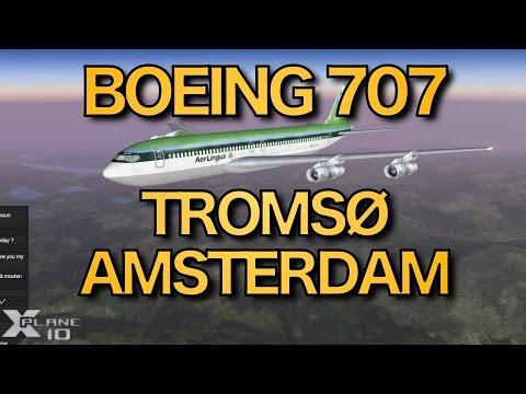 Tromsø - Amsterdam (ENTC-EHAM) | Aurora Borealis & Aer Lingus Boeing 707 | X-PLANE | 10 Nov 2015