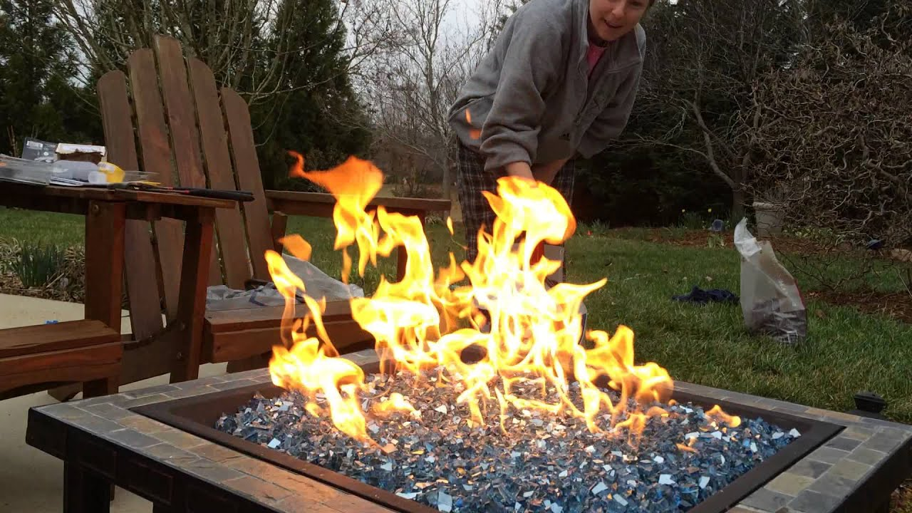 Home Made Propane Fire Pit Youtube