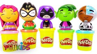 Magic Rainbow Playdoh Paw Patrol with PJ Masks & Teen Titans Go
