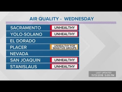 Camp Fire: Air quality forecast in Northern California
