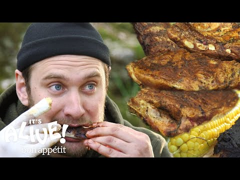 Brad Makes Campfire Ribs | Its Alive | Bon Appétit