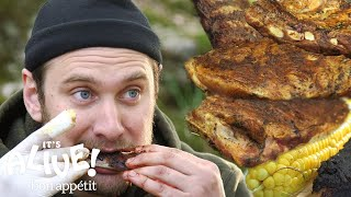 Brad Makes Campfire Ribs | It's Alive | Bon Appétit
