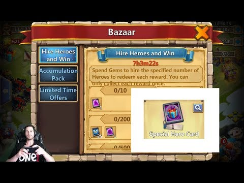 JT's Free 2 Play Rolling Heroes & Talents Legendary Hero Card Castle Clash