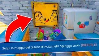 Fortnite ITA - LA NUOVA MAPPA DEL TESORO A SPIAGGE SNOOB!