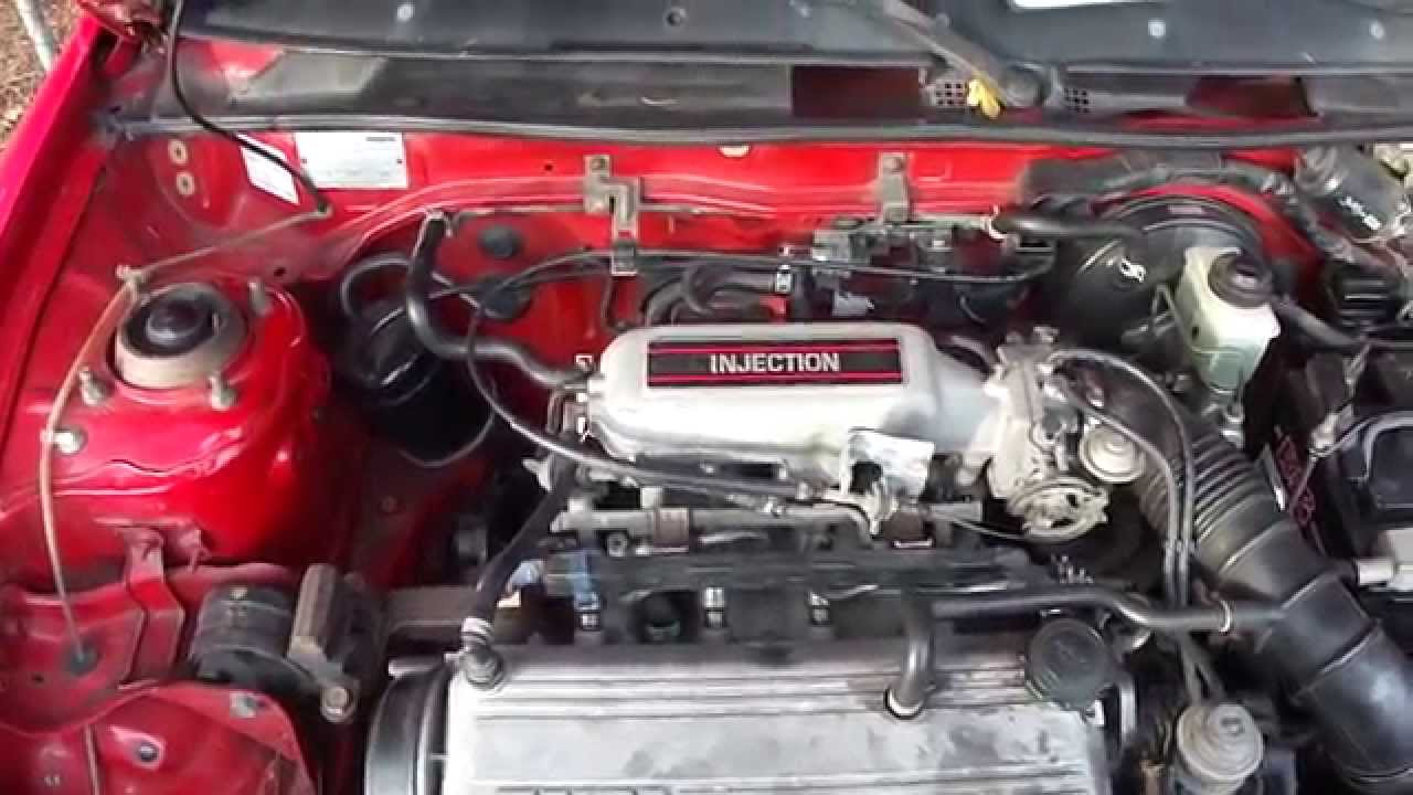 Mazda 323 1989 1398 Cubic Cm Engine Compartment Youtube