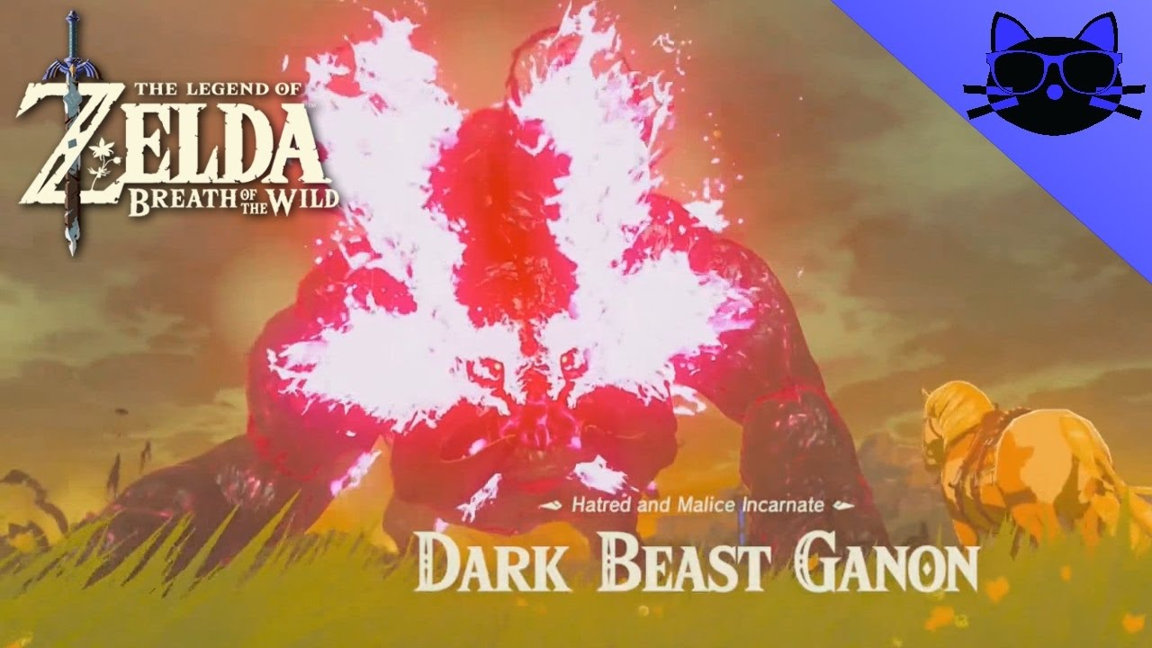 Zelda Breath Of The Wild Final Battle Dark Beast Ganon Credits Endings