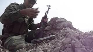 Diễn tập bắn đạn thật. Đại đội 10 tiểu đoàn 3 trung đoàn 1 sư đoàn 9 năm 2014