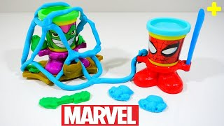 Play Doh Can Heads Green Goblin Spiderman Marvel Play Dough Playset