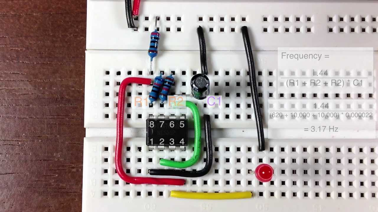 555 Timer Oscillator Tutorial Youtube Circuit