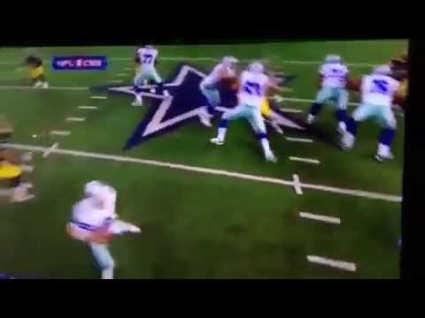 Tony Romo gets sacked like usual
