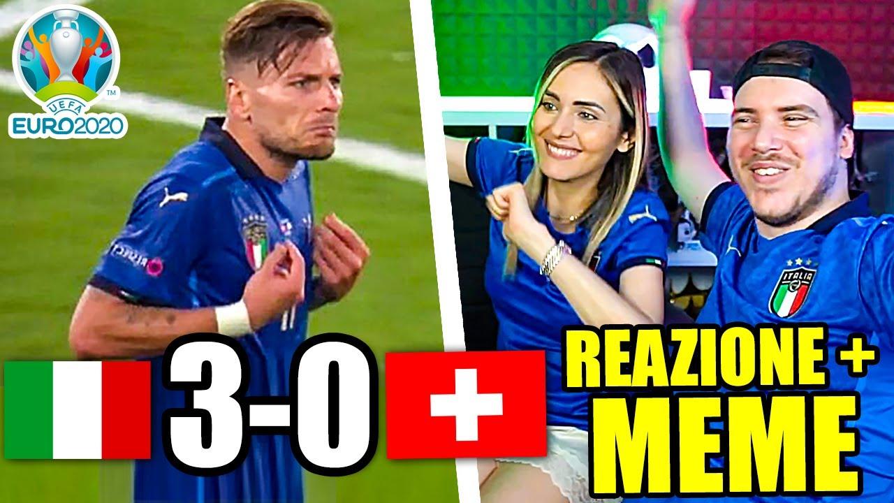 ITALIA vs SVIZZERA 3-0 - EURO 2020 REAZIONE del WEB ai MEME!