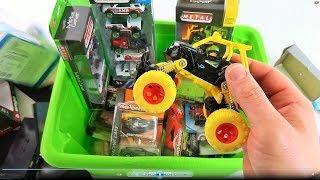 Box full of Cars Burago Majorette for Boys Video for Kids