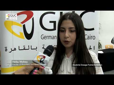 The German University in Cairo Students Dosage Forms Exhibition Pharmacy 2018