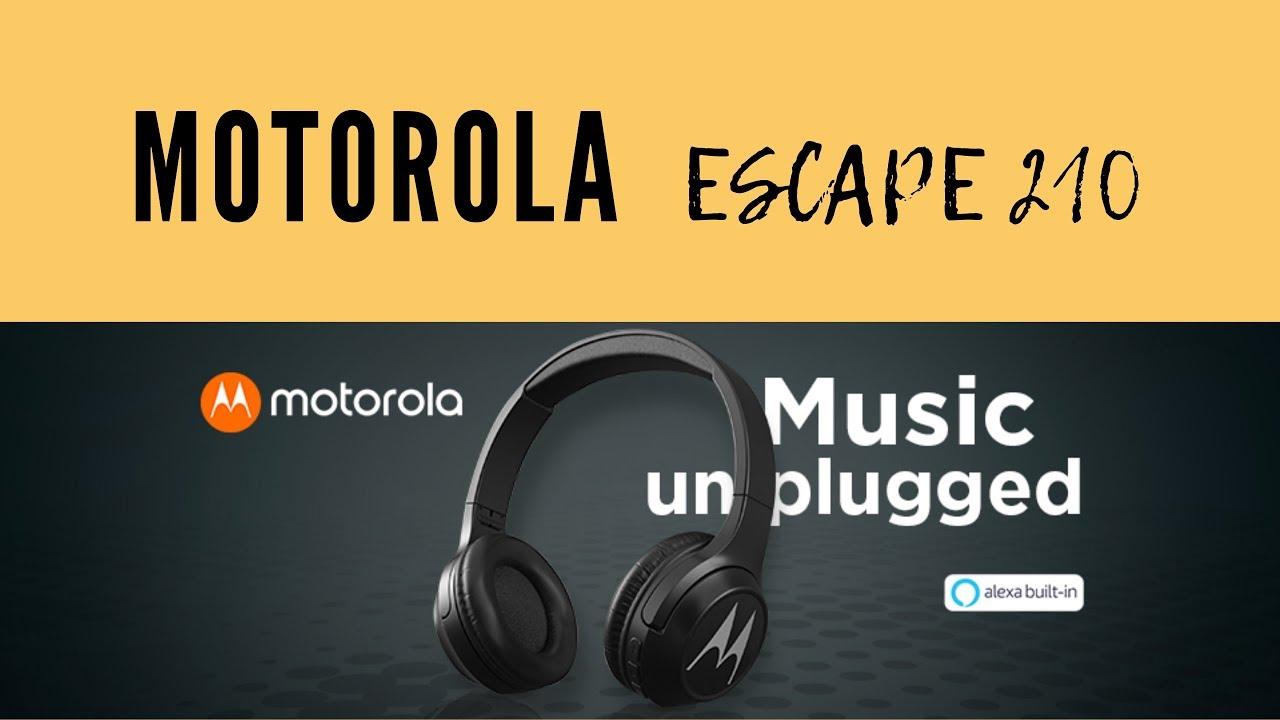 Escape 210 Motorola Bluetooth Headphone Unboxing Review Youtube