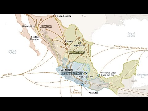 Mexico Cartel Map 2015 on