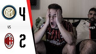 COSÌ NO... - INTER 4-2 MILAN | LIVE REACTION GOL HD TIFOSO MILANISTA