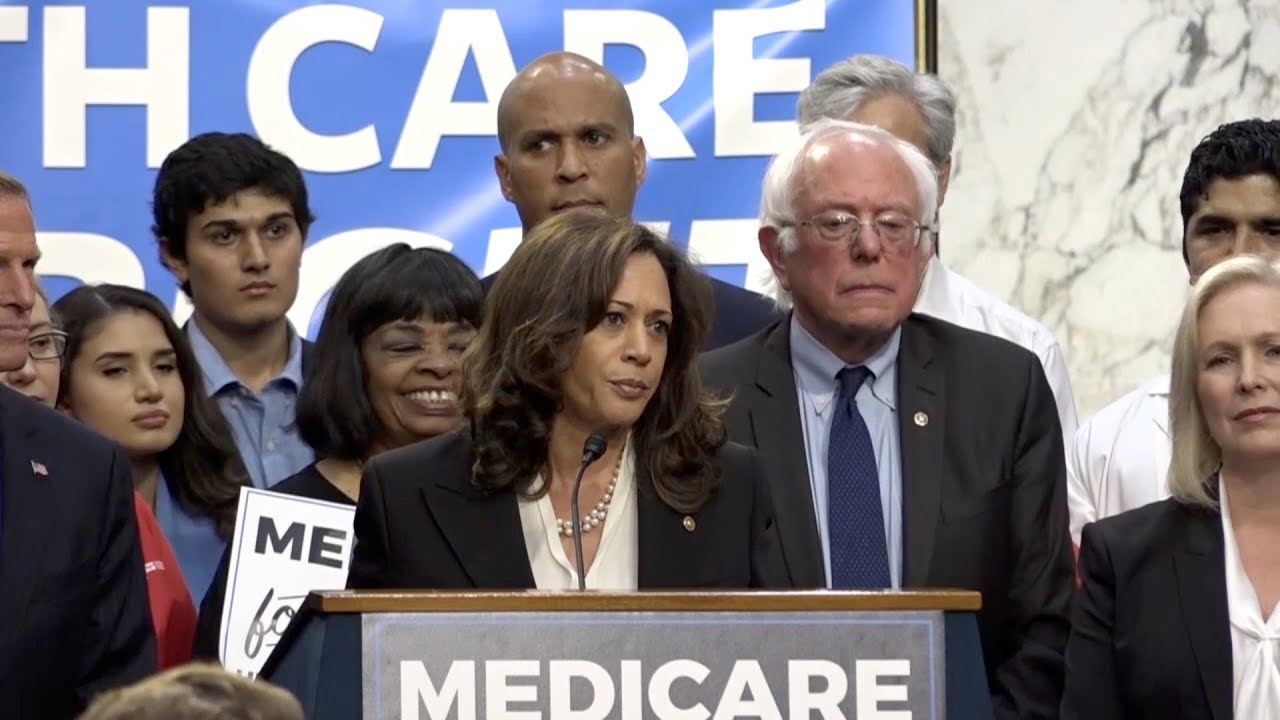 Image result for bernie sanders kamala harris