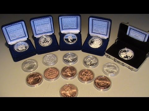 Rare Silver Bullet Silver Shield copper coins