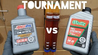 Amsoil vs O'Reilly motor oil tournament!