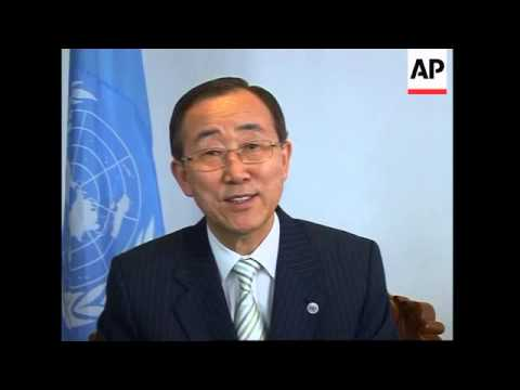AP intv with Ban Ki-Moon after UN conference adopts plans on new pact