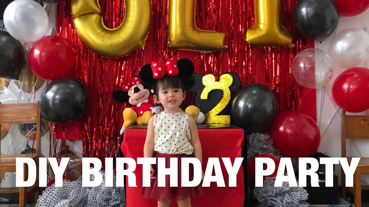 DIY Mickey Mouse Themed Birthday Party In Olivias School
