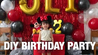 DIY Mickey Mouse themed birthday party in Olivia's School | Andi Manzano
