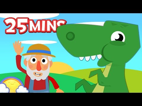 Old MacDonald had a DINOSAUR Farm! | Plus Farmyard Songs for Kids | CheeriToons