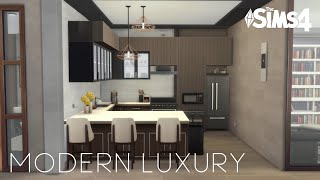 MODERN LUXURY APARTMENT | No CC | Stop Motion Build | The Sims 4