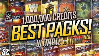 THE BEST PACK OPENINGS OF WWE SUPERCARD! 1 MILLION CREDITS & REACTIONS! 2017