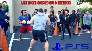 Last To Get Knocked Out In The Hood Wins A PS5!